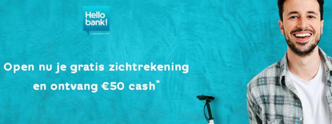 Ontvang 50 euro gratis geld