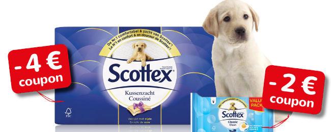 Gratis kortingsbonnen van Scottex